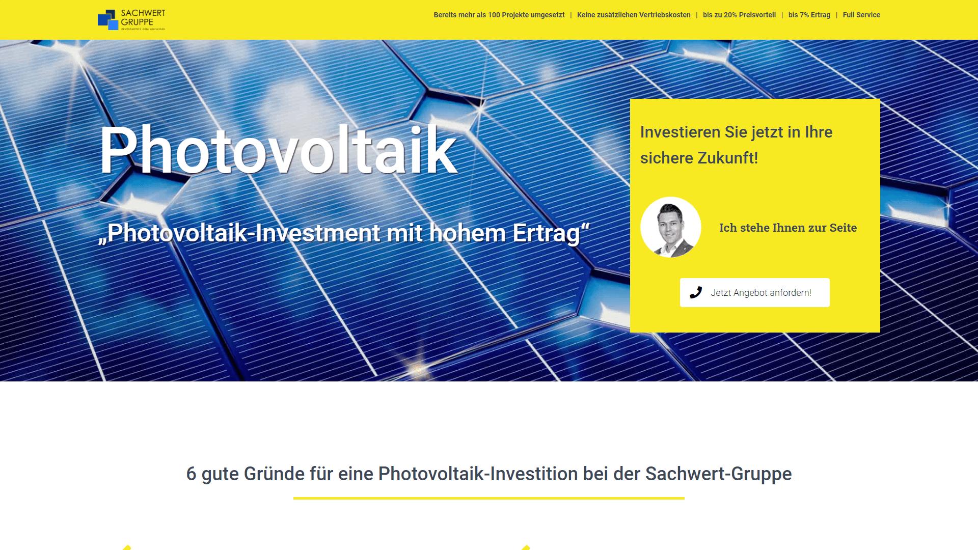 Referenz Sachwert Gruppe Photovoltaik Investment